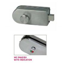 903-13 bolt lock glass door WC
