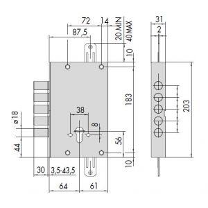 cisa lock 56505-48 dimensions