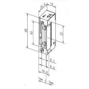 eff-eff 118E electric strike dimensions
