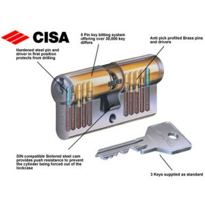 cisa cylinder c2000 og302 inside pins