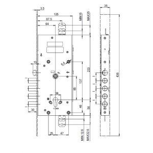 cisa e6516 myevo electric lock dimensions
