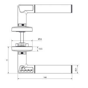 yale 8812 electronic handle dimensions (8)