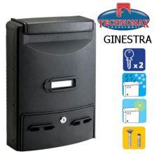 technomax letterbox ginestra black