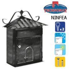 technomax letterbox ninfea wrought iron