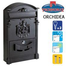 technomax letterbox orchidea black