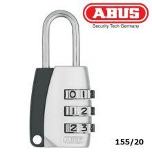 abus padlock combination 155-20