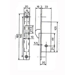 feb lock 5815 dimensions