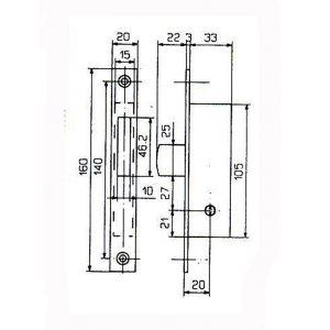 feb lock 5820 dimensions