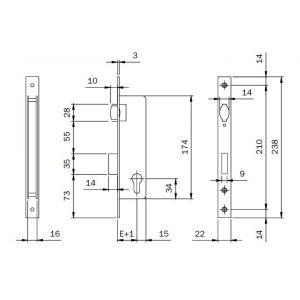 iseo 743 mortice lock dimensions