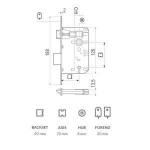 agb lock piccola 40x70 dimensions