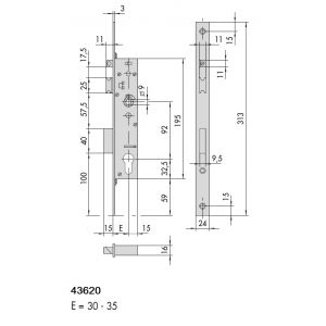 cisa 43620 sicur panic lock dimensions (new)