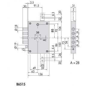 cisa b6515-48B revolution pro lock dimensions (1)