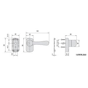 cisa handle 07078-28 dimensions