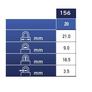 abus padlock combination 156 dimensions