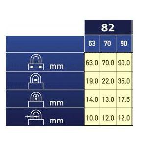 abus padlock 82 dimensions