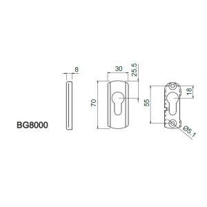 disec defender bg8000 dimensions