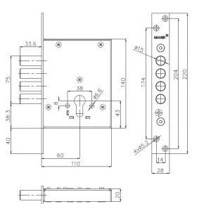 mauer lock 101-108 dimensions