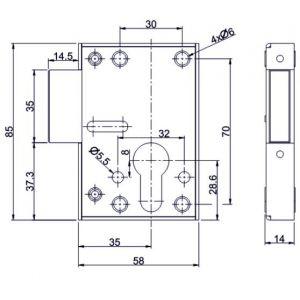mauer lock 101-086 dimensions