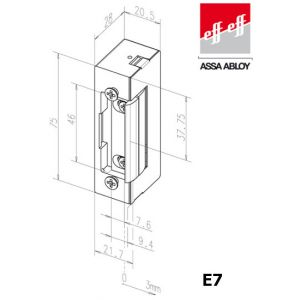 eff eff electric strike e7 dimensions