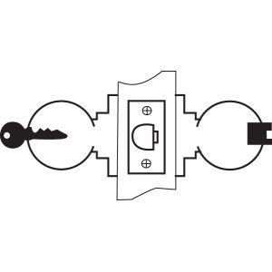 yale knobset lock 5237 drawing