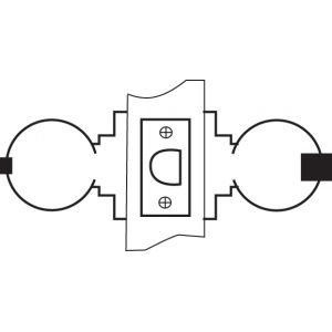yale knobset lock 5232 drawing