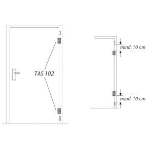 abus tas102 hinge lock installation example