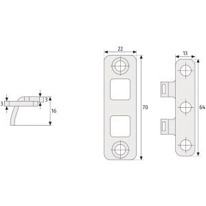 abus tas102 hinge lock dimensions
