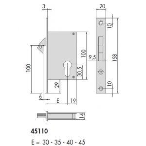 cisa 45110 mortice lock dimensions