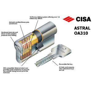cisa astral oa310 cylinder inside pins