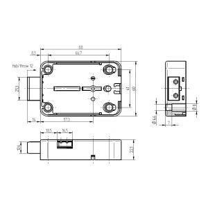 kaba mauer 71111 safe lock dimensions