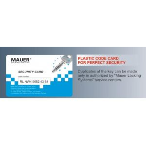 mauer security cylinder nw5 card