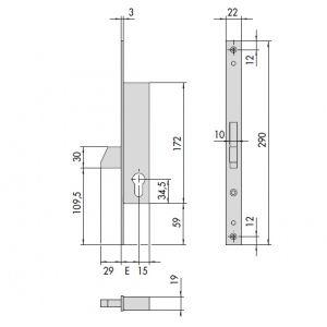 cisa lock 46210 dimensions