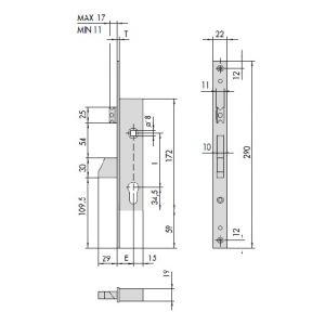 cisa 46215 lock aluminium doors dimensions
