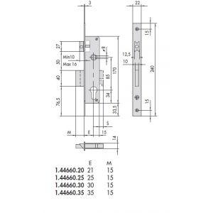 cisa lock 44620 dimensions