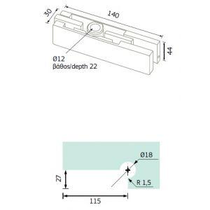 101.01 upper hinge dimensions