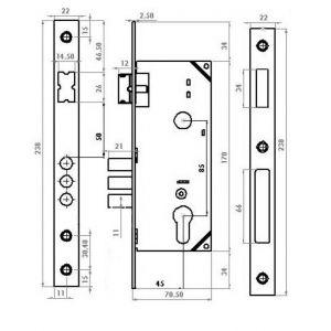 gevy 120-050 mortice cylinder lock dimensions (2)
