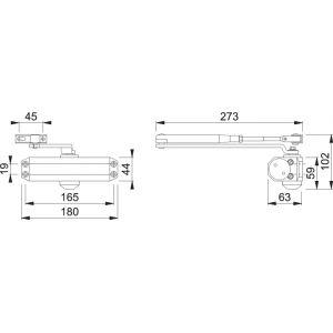 hoppe door closer AR450 dimensions