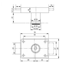 burgwachter mz83 lock dimensions