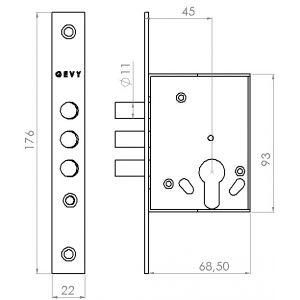 gevy lock 119-049 dimensions