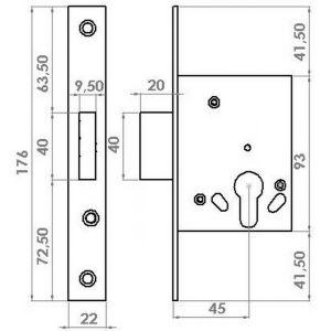 gevy lock 119-045 dimensions
