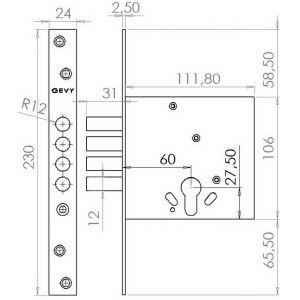 gevy lock 125-060 dimensions