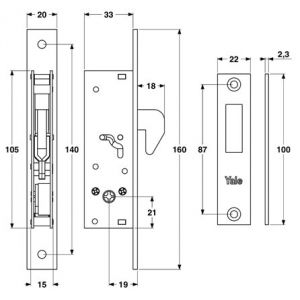 yale lock 9a63000 dimensions