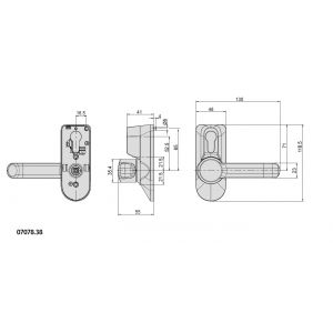 CISA 07078-38 handle dimensions