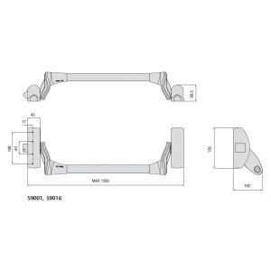 cisa 59001 panic exit device dimensions