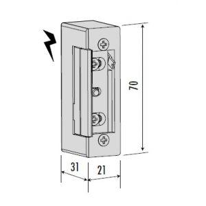 cisa 15100 electric strike dimensions