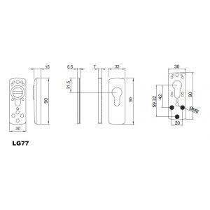disec defender lg77 dimensions (new)