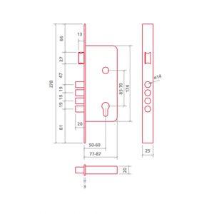 ezcurra 700b lock dimensions