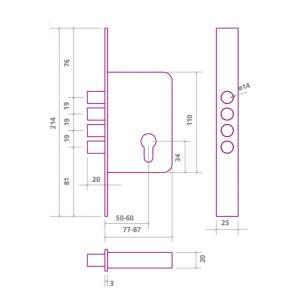 ezcurra 701b lock dimensions