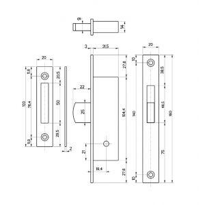 fiam lock 30314-20 dimensions