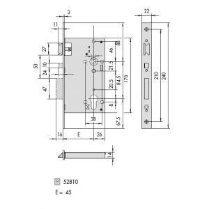 CISA 52810-45 mortice lock dimensions (1)